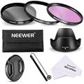 Neewer 67MM Lens Filter Accessory Kit for 67MM Lens Cameras:UV CPL FLD Filter+Carry Pouch+Lens Hood+Lens Cap+Cap Keeper Leash