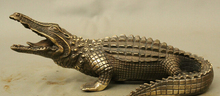 wholesale factory 10 Decoration Brass Chinese Bronze Animals Winning Victory Crocodile Alligator Statue