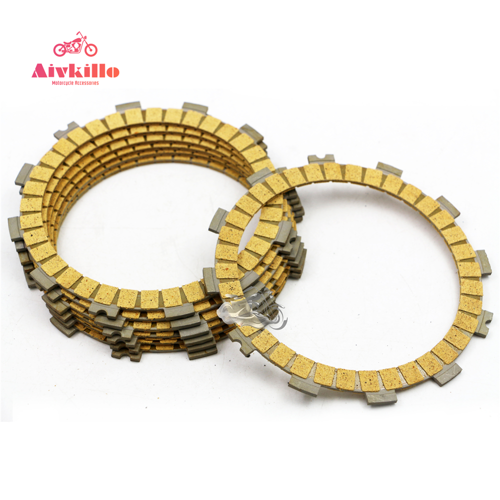 8pcs Clutch Friction Plate For Suzuki GSX600F GSX750F Katana GR650/X Motorcycle title=
