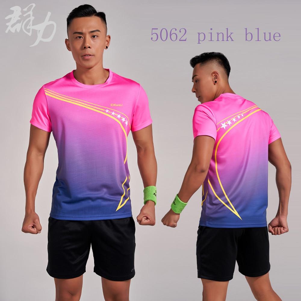 Купить kunli 2018 новая мужская женская теннисная рубашка уличная спортивная