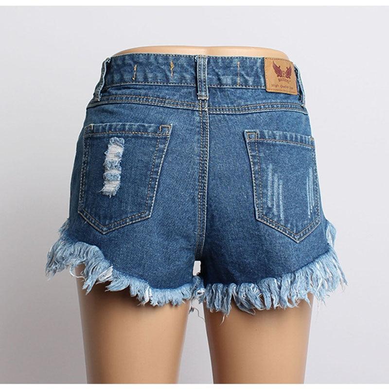Marea Blue Niza Calle Mezclilla De Mujeres Sueltos Paño Cortos Agujero Algodón Remaches Pantalones Vogue Se Femenina Pop Verano Del 0pF0Uxr