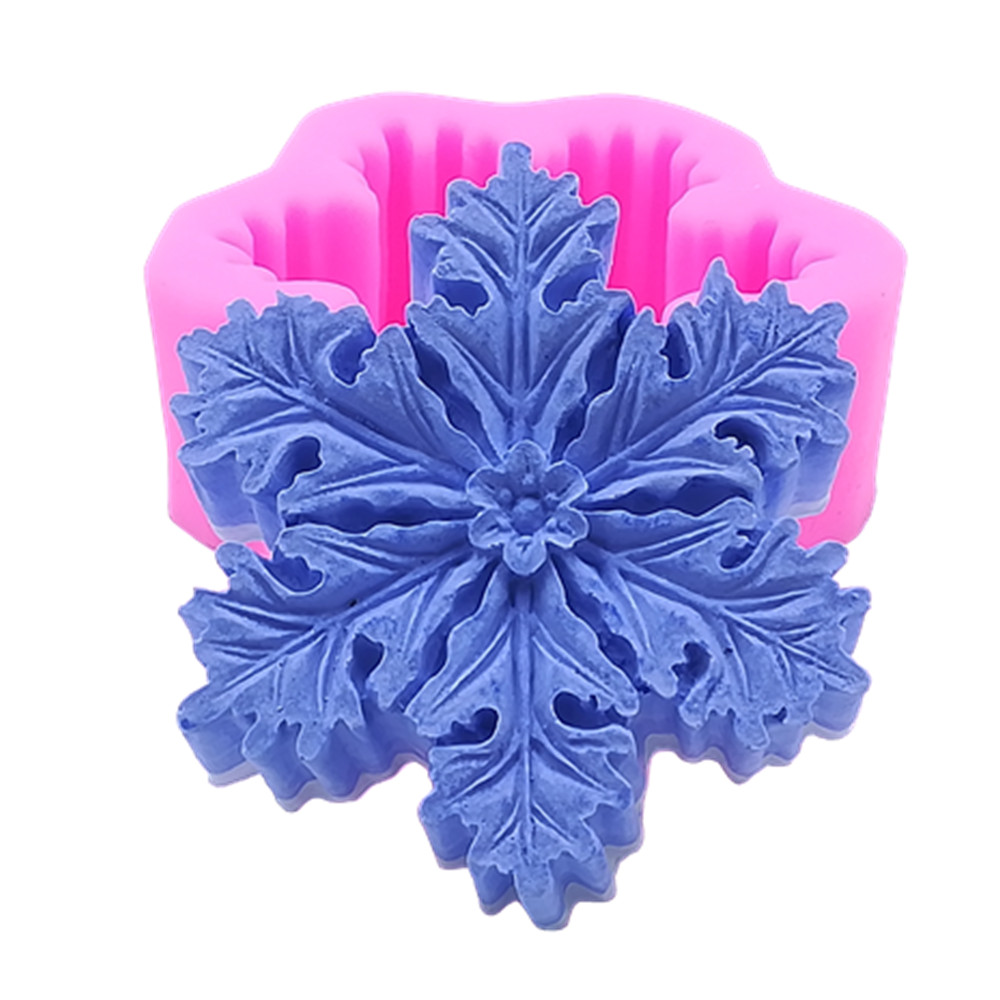 Food Grade Snowflake Silicone Soap Mold Candle Mold Art Chocolate Molds Cake Molds Sugar Craft Silicone Mould