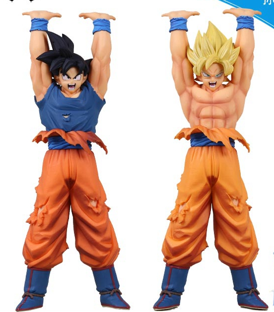 Dragon Ball Son Gokou Figure Original Banpresto Genki Dama Spirit Bomb DXF Super Saiyan Figure Dragon Ball Z Action Figuras dragon ball dxf the super warriors vol 3 super saiyan rose gokou black and vegetto pvc figure collectible model toys kt4201