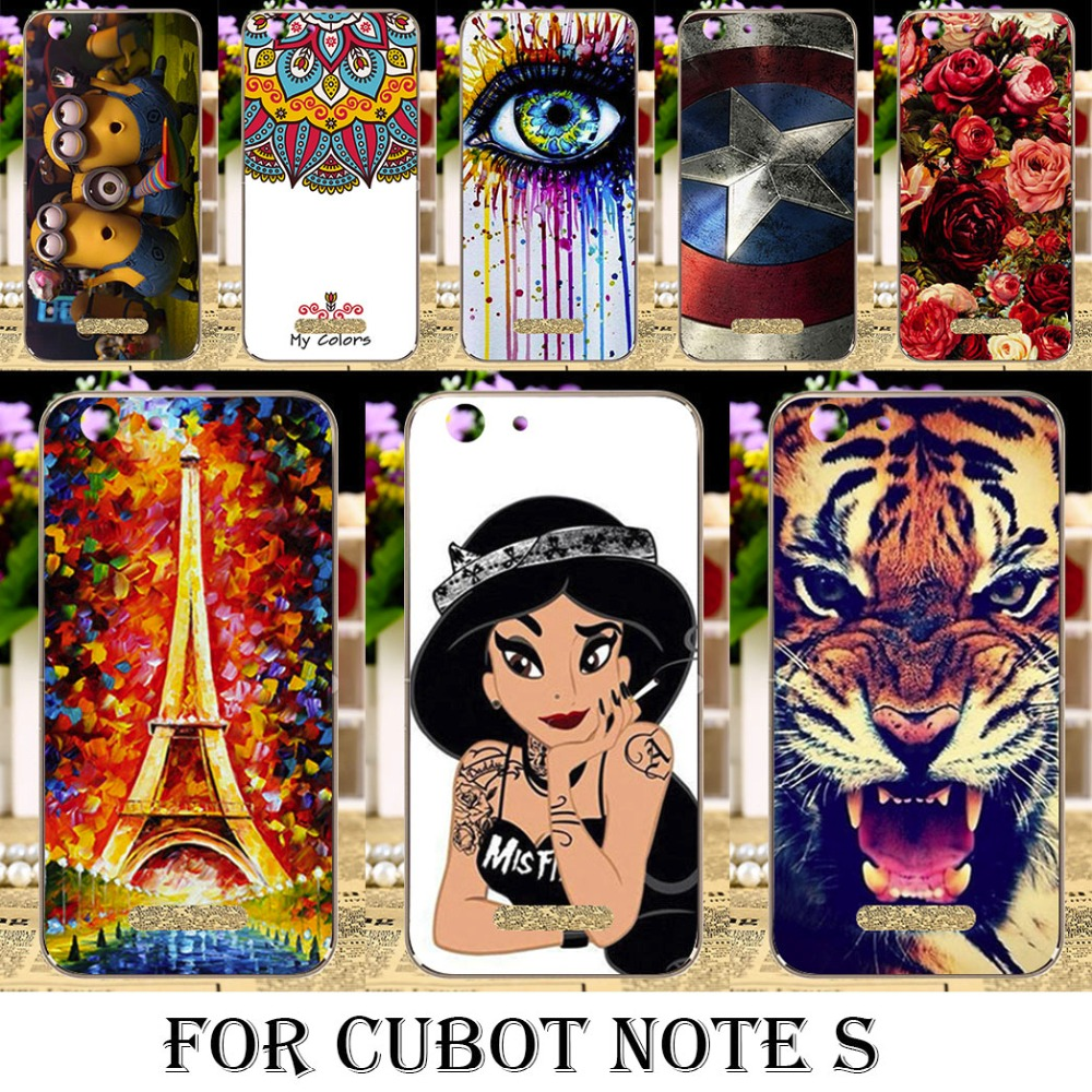 Phone C Cases For Cubot Note S Cubot Dinosaur 5.5 inch Cases Housing Cover Gel Phone Bag shell Painted Soft TPU Silicone