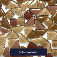 Crystal Stone Mixed Color Children Glass DIY Creative Mosaic Handmade Material Collage Grain Mosaic Tiles Early Recognie