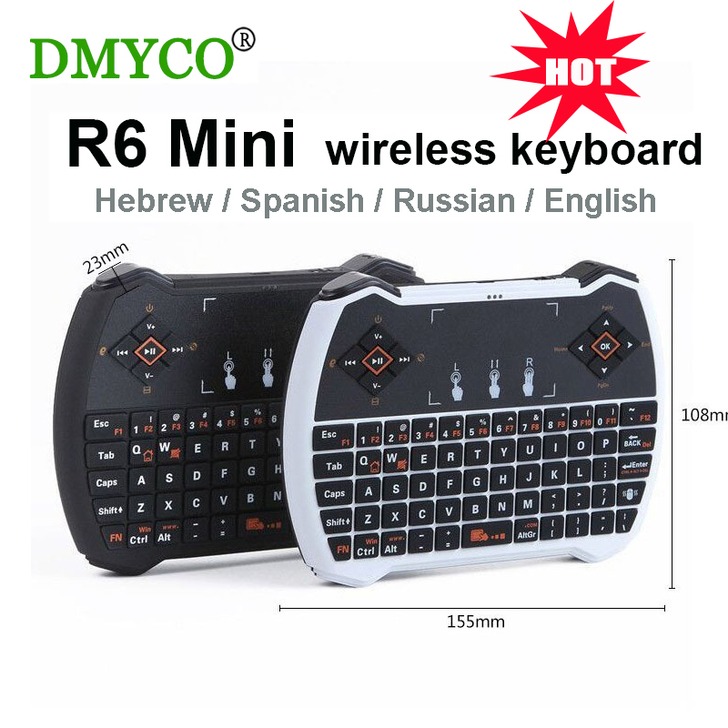 2 pieces Wireless Keyboards 2.4G Mini QWERTY English Keyboard +Mouse Touchpad Game Keyboard for PC Notebook Android TV Box HTPC