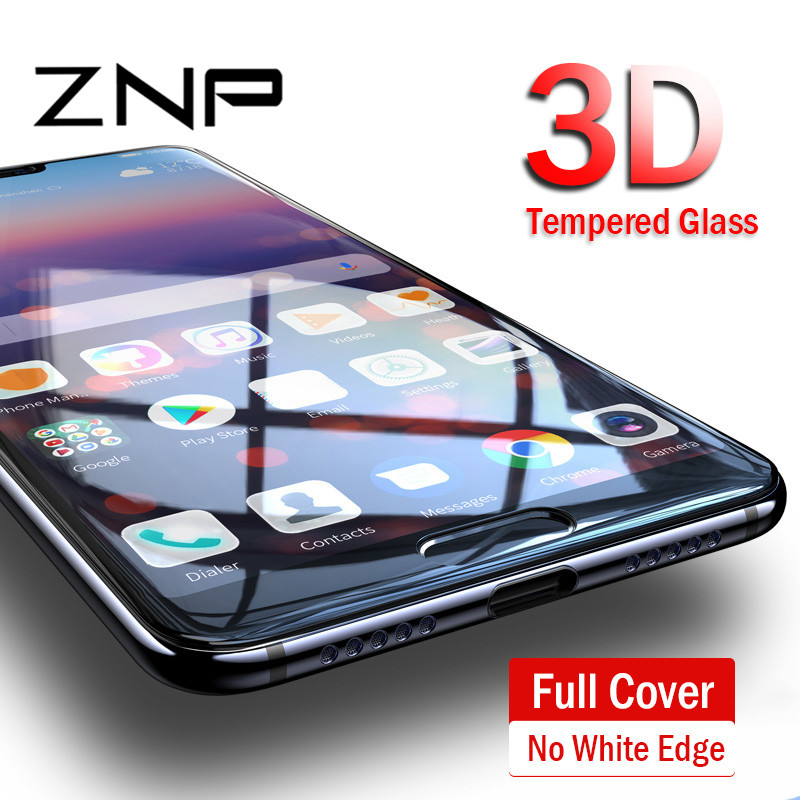 Galleria fotografica ZNP 9H Full Cover Tempered Glass For Huawei P20 Pro P10 Plus Screen Protector Film For Huawei P20 P10 Lite Honor 9 Lite 10 Glass