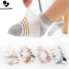 5Pairs/lot Infant Baby Socks Summer Mesh Thin Cartoon for Girls Cotton Newborn Boy Toddler Accessories