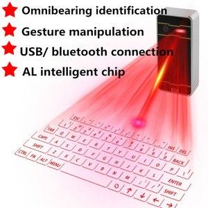 Image 1 - Bluetooth レーザーキーボードワイヤレス仮想投影キーボードポータブルのための Iphone の Android スマートフォン Ipad タブレットノート Pc