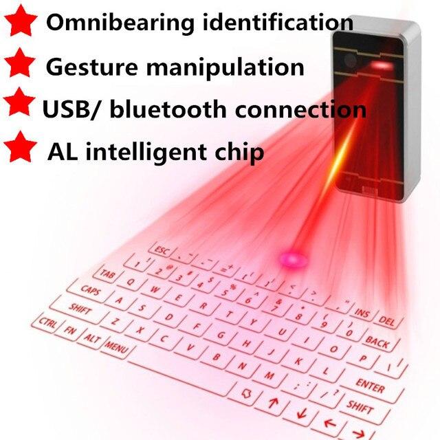 Teclado Virtual De Projeção A Laser Bluetooth teclado Sem Fio Portátil para Iphone Android Telefone Inteligente Ipad Tablet PC Notebook