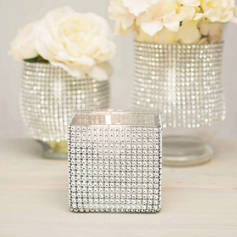 24 Rows Rhinestone Napkin Rings Wedding Banquet Napkin Holder Wrap Napkin Buckle Chair Sashes Bow Covers Hotel Party Decoration