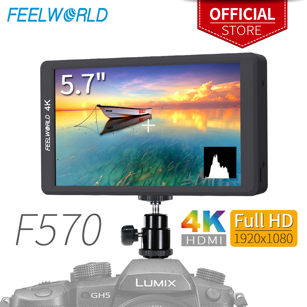Feelworld F570 5.7 IPS Full HD 1920x1080 4 k HDMI Sur l'appareil photo Champ Moniteur pour Canon nikon Sony DSLR Caméra Cardan Rig
