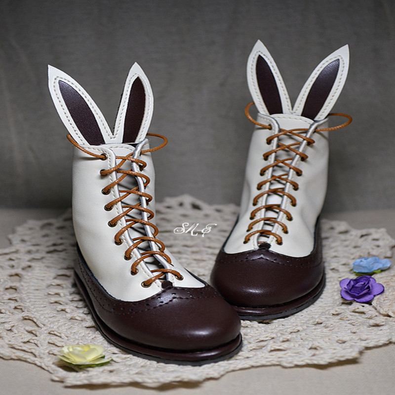 BJD Doll boots two-wear rabbit ears cut short boots in stock page - sd13 instax two ring page 6