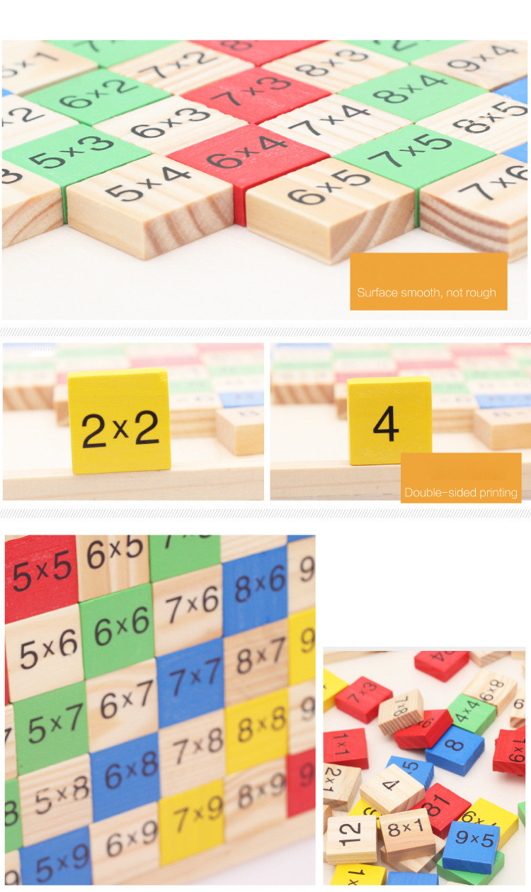 Montessori Wood Multiplication Table Wooden Children Educational Toys 99  Arithmetic Math Toy Figure Building Blocks Christmas Gift (7)