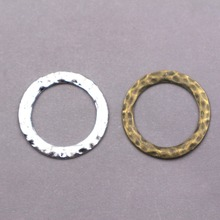8PCS Wholesale  vintage alloy charms  Ring Charms Circle pendant Connectors Links charms for Jewelry Making Findings