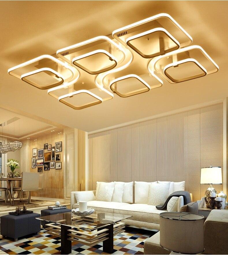 Современный простой квадратный светодиодный потолочный светильник творческая гостиная спальня исследование Ресторан огней коммерческог