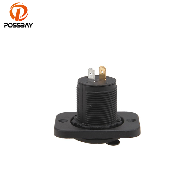 POSSBAY <font><b>12V</b></font> <font><b>Motor</b></font> 3Car Cigarette Lighter Socket Splitter <font><b>Charger</b></font> Power Adapter Motorcycle Double <font><b>USB</b></font> Interface image