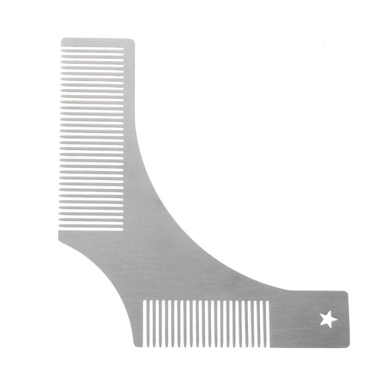 Beard Shaping Comb Stainless Steel Beard Shaping Tool Beard Modeling Template Carding Tool Beard Comb