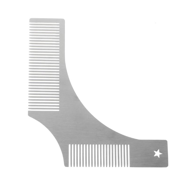 Beard Shaping Comb Stainless Steel Beard Shaping Tool Beard Modeling Template Carding Tool Beard Comb