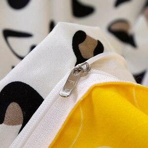 Image 3 - Żółty biały wzór w cętki pościel do domu ustawia kołdra pokrywa łóżko zestaw poszewka na poduszkę narzuta król królowa podwójne Twin 3/4 sztuk zestawy pościeli