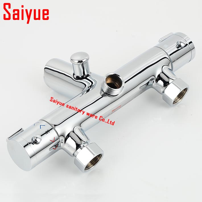 European Style Thermostatic Bathroom Bath & Shower Faucet Showering ...