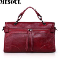 Women Bag 2017 Genuine Leather Handbags Classic Italian Vintage Tassel Ladies Shoulder Bags Messenger Satchel Crossbody Totes