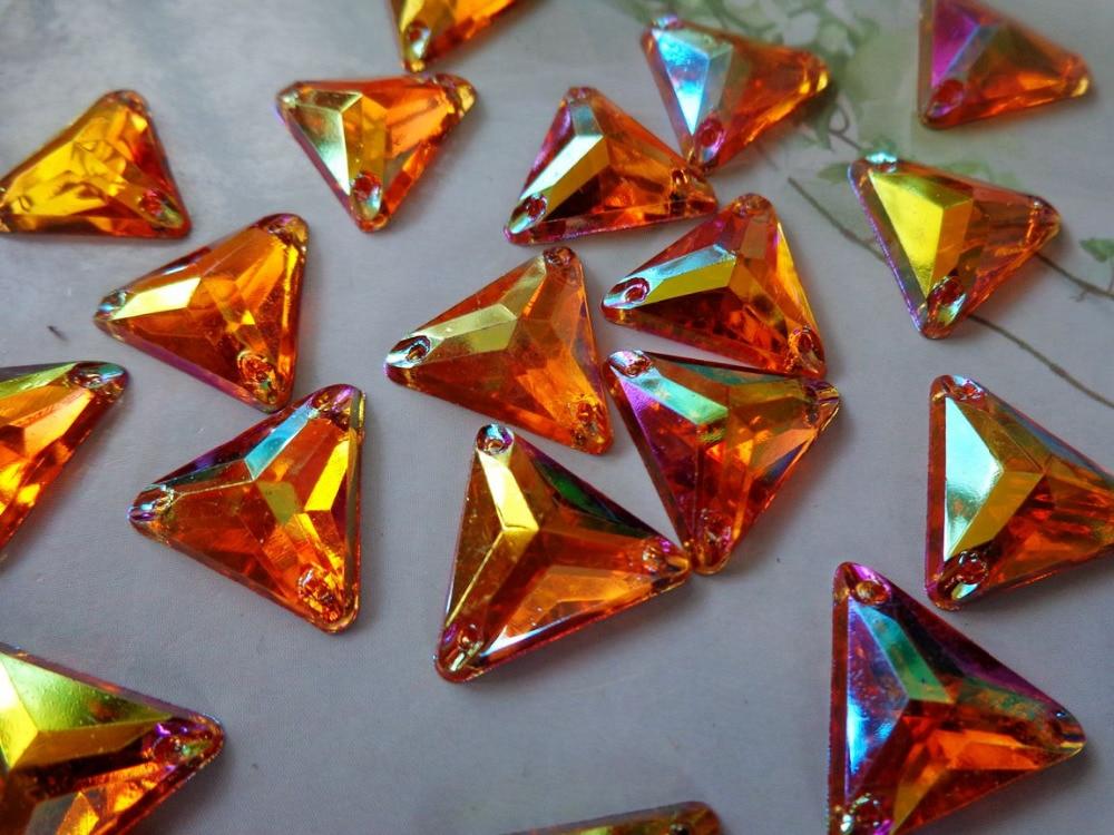①100 шт. форму треугольника 14 мм драгоценные камни ...