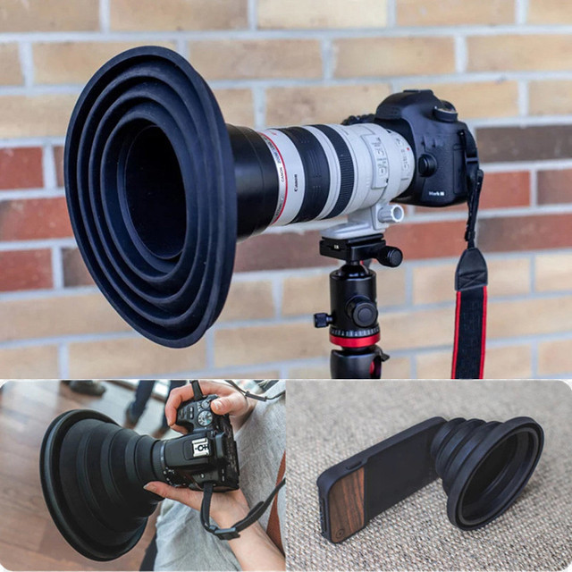 High quality CPL Silicone Ultimate Lens Hood Anti-glass reflective lens cover-Free Photos Videos For photographers Practical