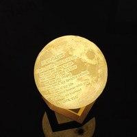 DIY 3D Print Mond Lampe Ladung Luminaria Romantische Liebe 2 Farbe Touch Schalter Schlafzimmer Bücherregal Nacht Licht Notfall Lampe Hause deco|LED-Nachtlichter|   -