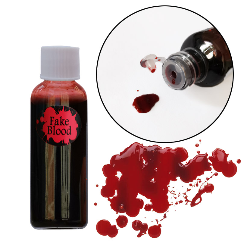 Vampire Fake Blood Teeth Vomiting Edible Pulp Halloween Party Supplies Ultra realistic Simulation Human Hematopoietic Props-in Party DIY Decorations from Home & Garden
