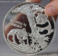 Crafts statue Chinese Collection Rare Exquisite 1990 panda beast animal commemorative coins halloween|Statues & Sculptures|Home & Garden -