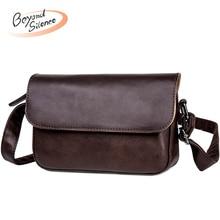 New Crossbody Bags for Women and Men Leather Shoulder Bag Designer Messenger Retro Female Clutch Bag Flap Hand Bags Male недорого