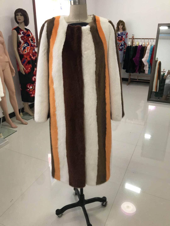 Manteaux Color Veste Hiver Survêtement Naturel Luxe Manteau Vraie Féminine De Outwears La 2018 Et Long Chaud Picture Femmes Nouvelle Fourrure Vison Mode qSAFxtf