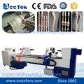 Baseball bat CNC copy lathe Machine , wood lathe machine , cnc wood turning machiney with double blades
