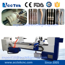 Baseball bat CNC copy lathe Machine , wood machine cnc turning machiney with double blades