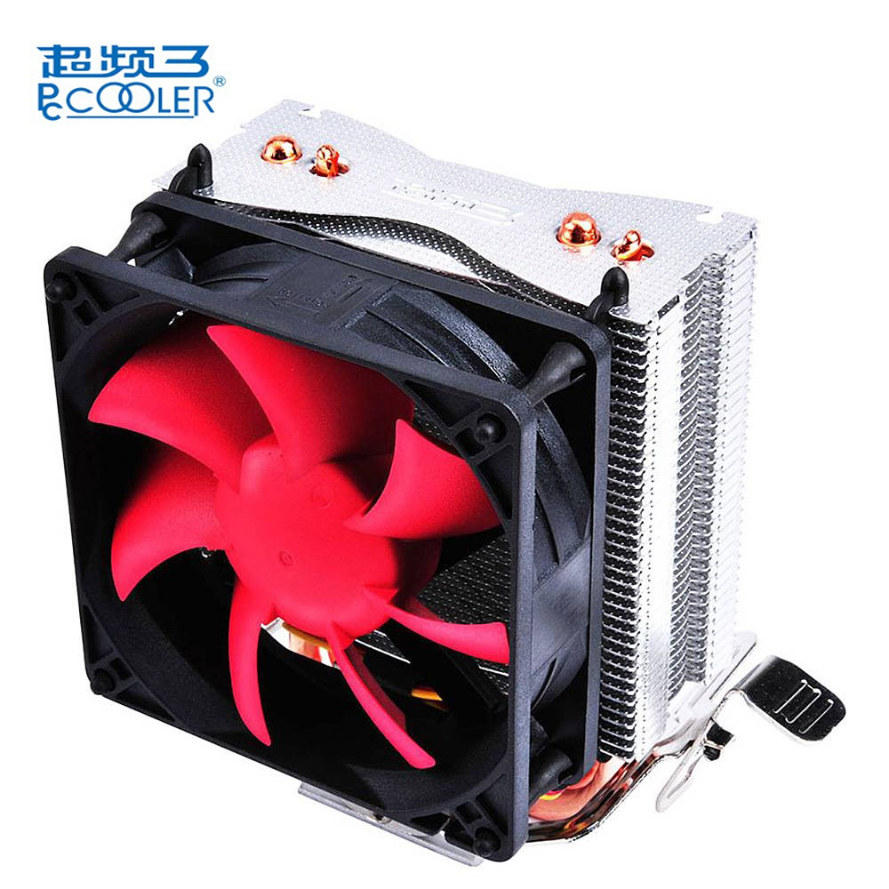 Pccooler HP-825 Mini CPU Cooler Fan Pure Cooper Heatpipe Silent Cooling Radiator Fan For Intel LGA 775 1155 1156 LGA 1150 1366 thermalright le grand macho rt computer coolers amd intel cpu heatsink radiatorlga 775 2011 1366 am3 am4 fm2 fm1 coolers fan