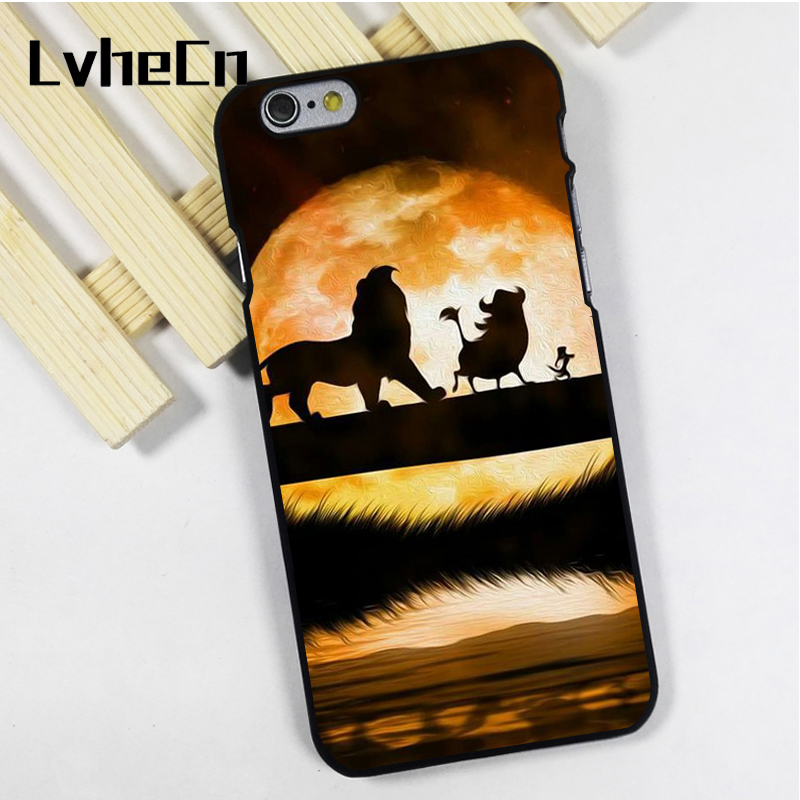 LvheCn phone case cover fit for iPhone 4 4s 5 5s 5c SE 6 6s 7 8 plus X ipod touch 4 5 6 Enjoy Lion King Hakuna Matata