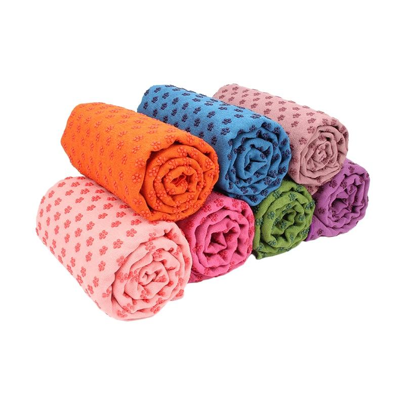 183 * 63cm Non Slip Yoga Mat Cover Towel Anti Skid Microfiber Yoga Shop Towels Pilates Blankets Fitness Yoga Mats Indoor fitness yoga socks non slip skid with full toe grips