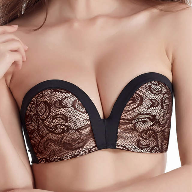 a7606bf5140f7 placeholder Fashion 3Styles Bridal Super Boost Push up Bra Thick Padded  Support Add 2 Cup Strapless Lingerie