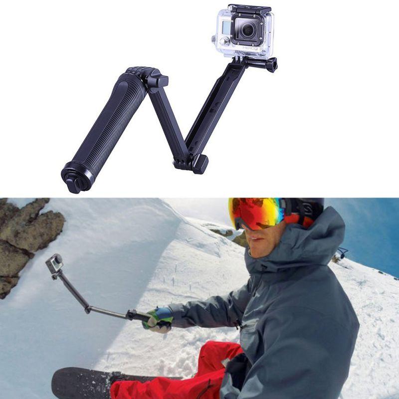 professional selfie stick mono pod mount camera grip extension arm tripod stand for gopro hero 4. Black Bedroom Furniture Sets. Home Design Ideas