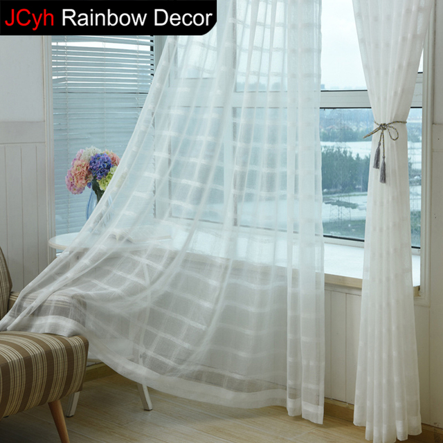 Weiß Jalousien Vorhänge Für Wohnzimmer Kurz Küche Cortinas Geometrische  Vorhänge Stoff Vorhänge Leinen Tüll Gardinen Schlafzimmer