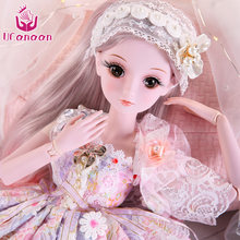 UCanaan 23.6'' BJD SD Doll 19 Ball Joints Dolls with Clothes Outfit Shoes Wig Hair Makeup for Girls Gift and Dolls Collection(China)