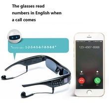 Smart phone Wearable sunglasses for driving sport message reminder answer dial call bluetooth Digital camera video recording