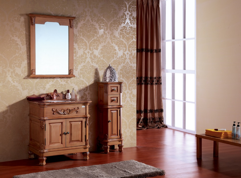 solid wood french antique bathroom vanity cabinet