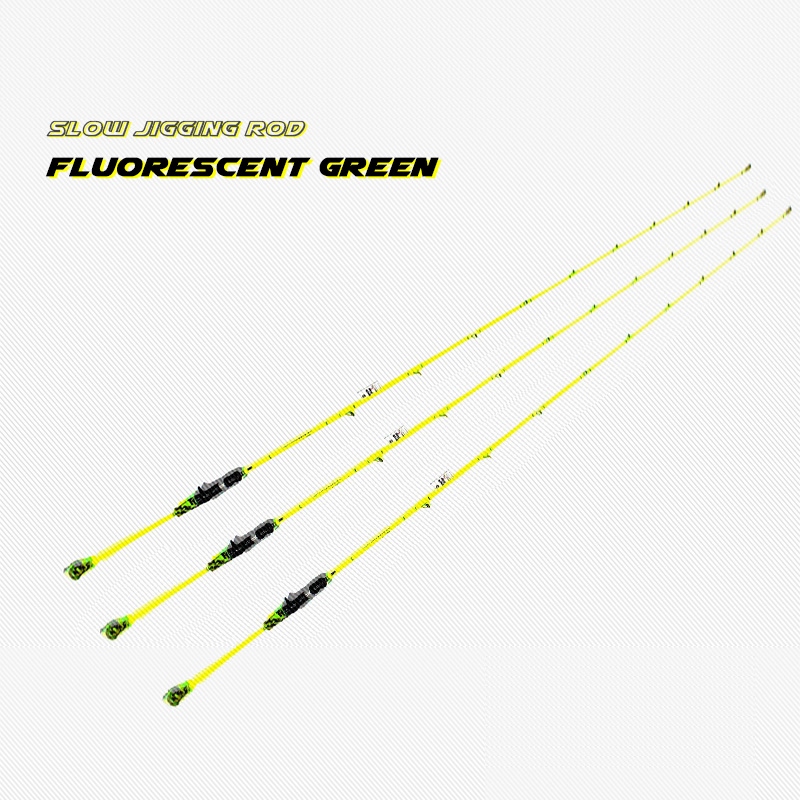 99% Carbon 1 Section Slow Jigging Rod Fishing Rod FUJI Reel Seat Slow Pitch Jig Rod Green Rod Fishing Store