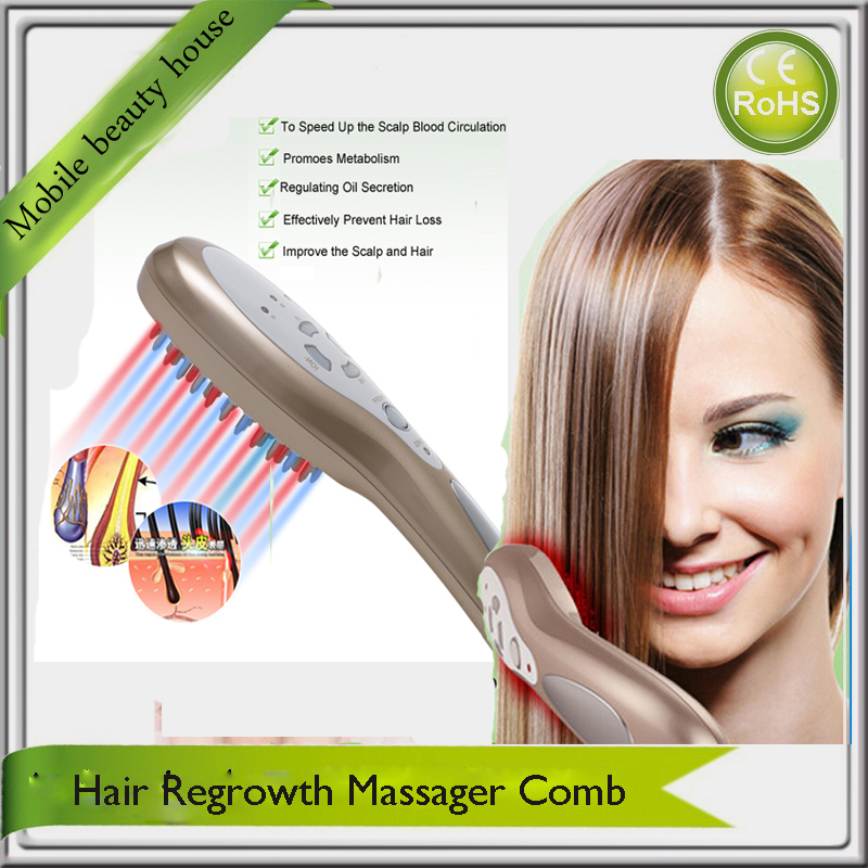 usb Rechargeable Electric Head Relaxation Hair Nourshing Hair Growth Massager Comb For Hair Regrowth Treatment  Free Shipping electric prostate massager for treatment of prostatitis urine frequency factory drop shipping male private haealth care