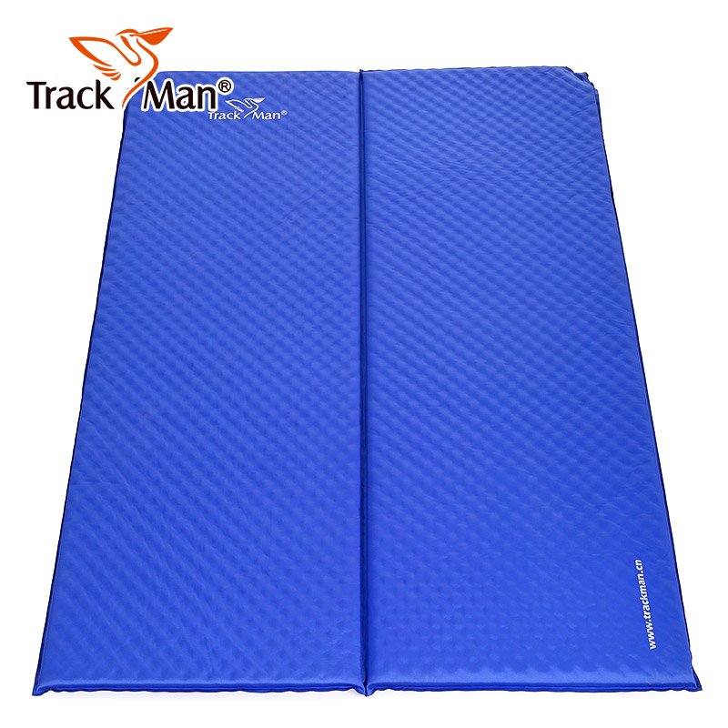 Trackman 2 Person Automatic inflatable hiking Travel mat Outdoor Self-Inflating Sleeping Pad with Pillow double Camping Tent Mat 2 person automatic inflatable cushion inflating mattress moisture proof cushion beach fishing hiking travel outdoor camping mat