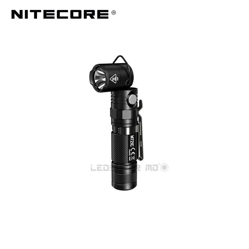 Последние Nitecore MT21C 1000 люмен компактный EDC факел л формы работы свет 90 регулируемый угол фонарик с магнитным основанием