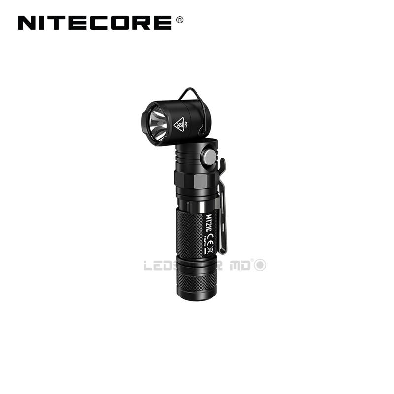 L-Shaped Work Light Nitecore MT21C 1000 Lumens Compact EDC Torch 90 Angle Adjustable Flashlight With Magnetic Base