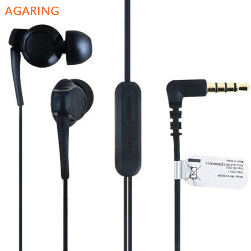 Agaring Headset EX300AP For Sony Xperia Z3 Z2 Z1 XA1 Ultra L55T XL39h C6833 L39h in ear Sports Earphone with Mic Remote Control in Phone Earphones Headphones from Consumer Electronics